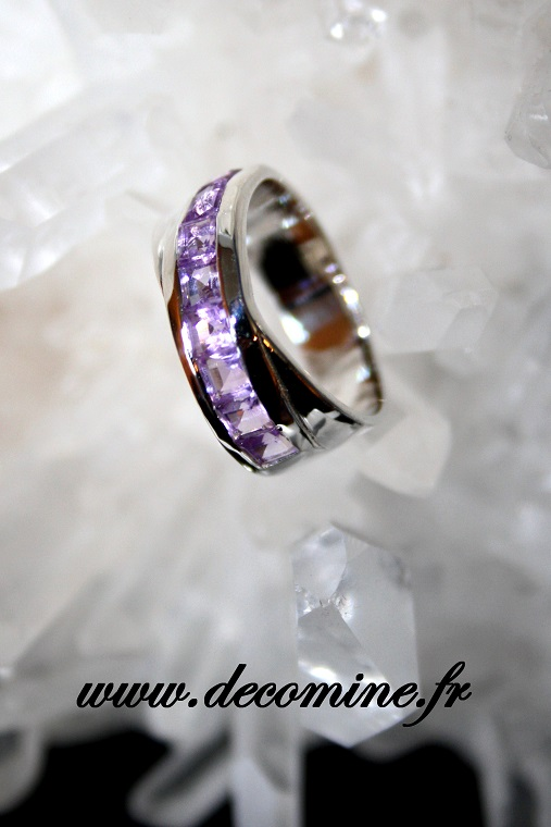 bague alliance amethyste T53
