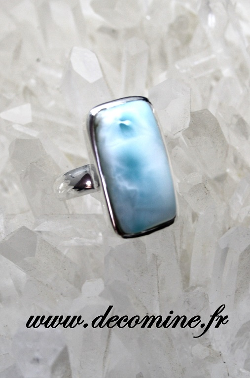 bague larimar bleu rectangle T56