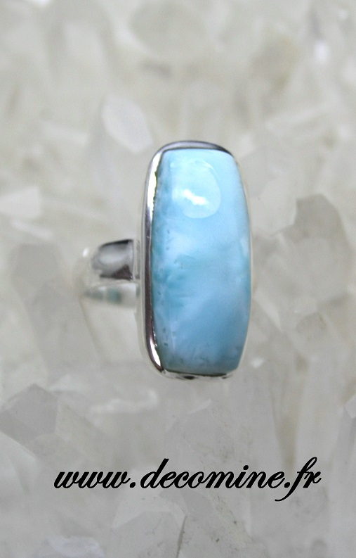 bague larimar rectangle argent T52