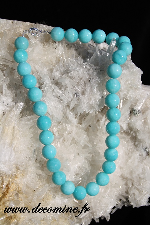collier amazonite verte perle 14 mm