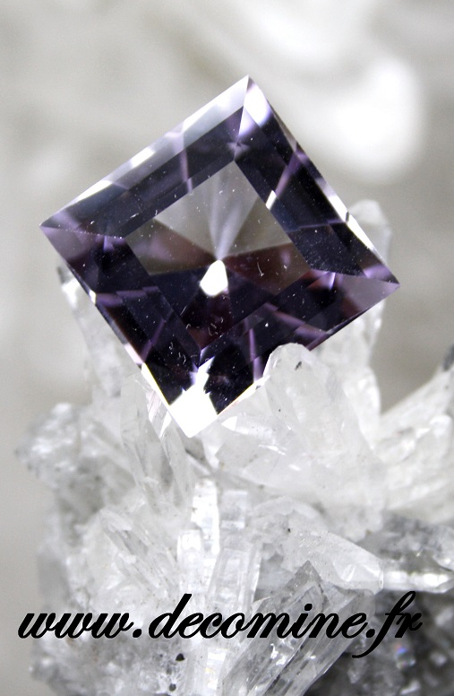 amethyste rose de france taille bright square 20.05 carats