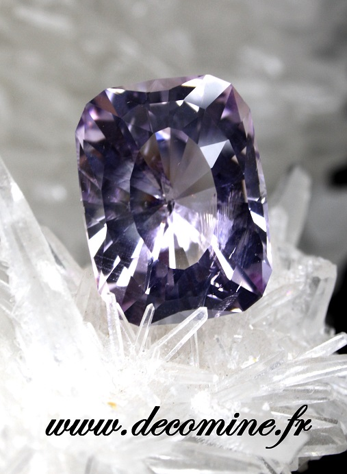 amethyste rose de france GB cushion rectangle 47.44 carats