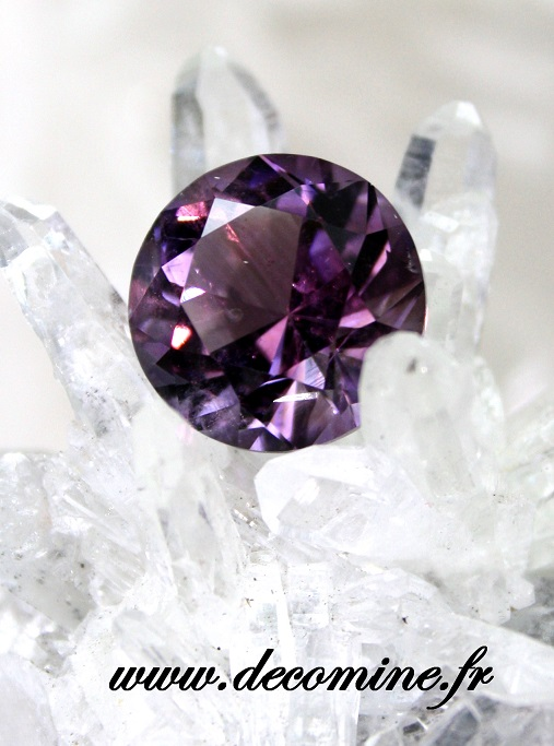 amethyste BAHIA taille brillant rond 5.94 carats