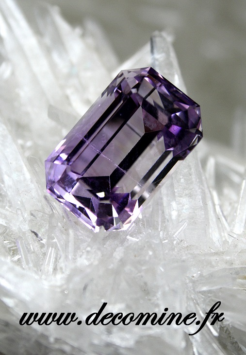 amethyste BOLIVIE taille emeraude 20.61 carats
