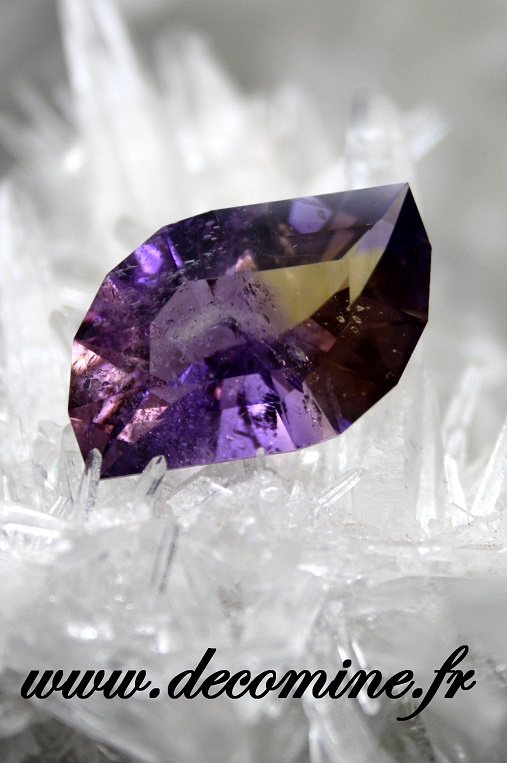 ametrine naturelle taille leaf in the wind 14.89 carats