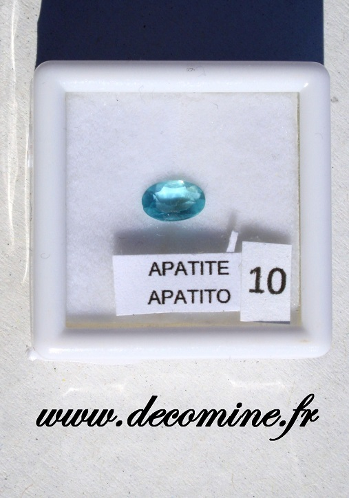 apatite bleue pierre taillee ovale