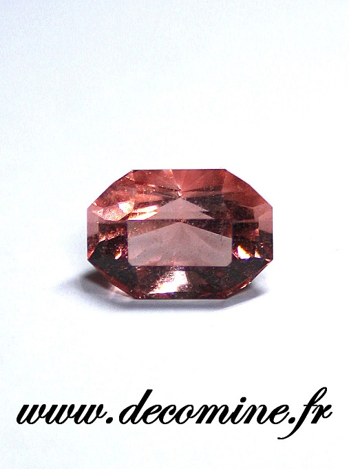 fluorine rose mont blanc rectangle 2.97 carats