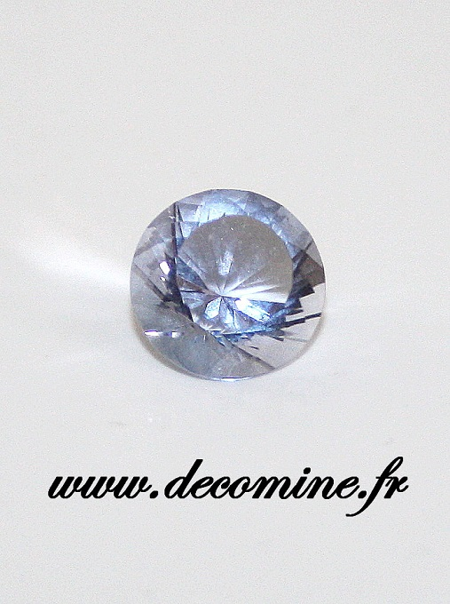 fluorite bleue aghbala rond 3.28 carats