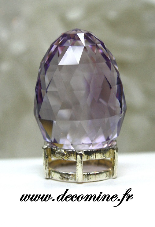 amethyste de bolivie taille oeuf 54.49 carats
