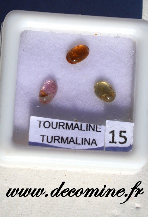 tourmaline couleur cabochon lot de 3